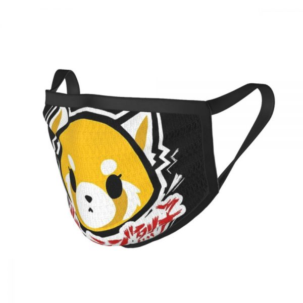 Aggretsuko Black Border Mask 2 - Aggretsuko Merch