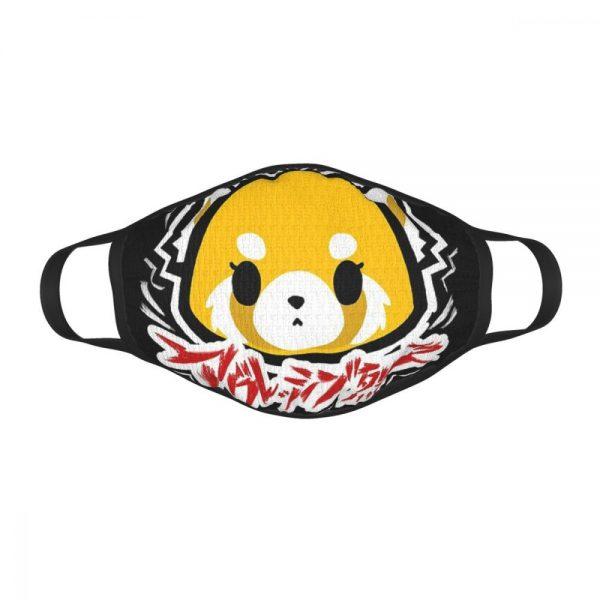 Aggretsuko Black Border Mask 3 - Aggretsuko Merch