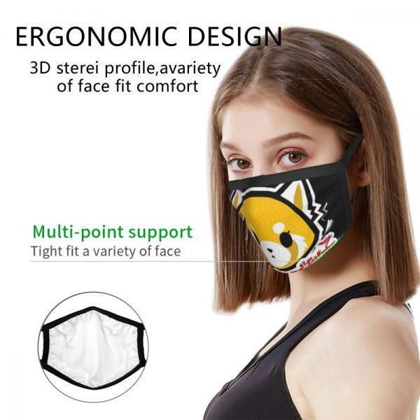 Aggretsuko Black Border Mask 5 - Aggretsuko Merch