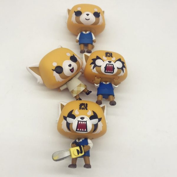 Aggretsuko Rage Chainsaw Date Night reative cartoon figurine Vinyl Action Collectible Model Toy for gift 3 - Aggretsuko Merch