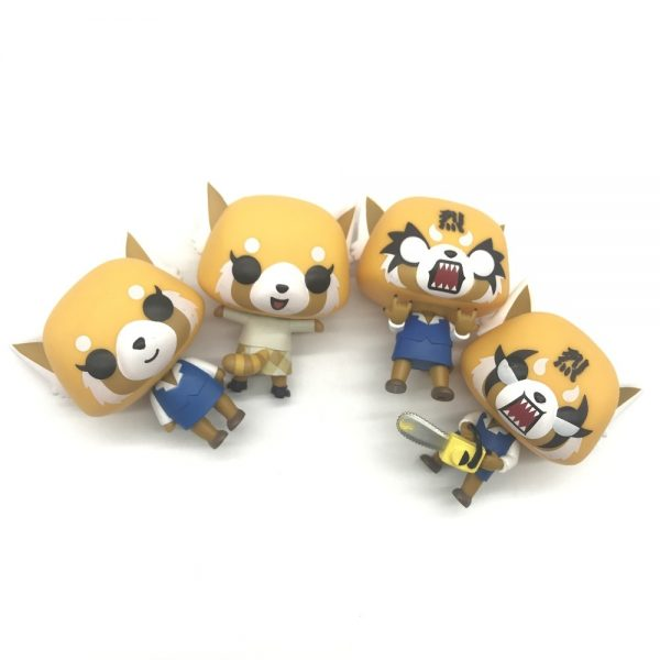 Aggretsuko Rage Chainsaw Date Night reative cartoon figurine Vinyl Action Collectible Model Toy for gift 4 - Aggretsuko Merch