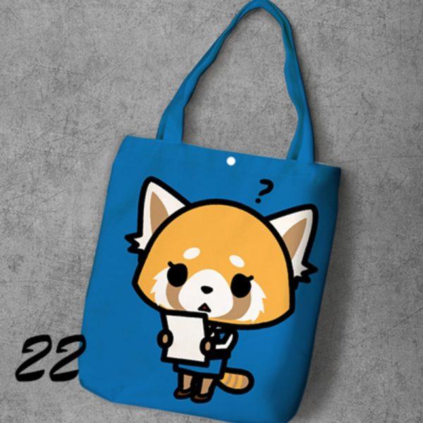 Aggretsuko Shoulder Canvas Bag Tote Bag Women Girl Shoulder Bag Shopping Bag 4 - Aggretsuko Merch