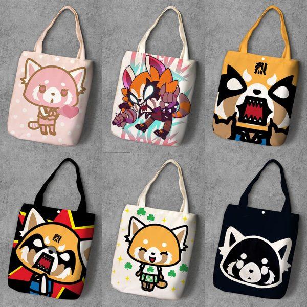 Aggretsuko Shoulder Canvas Bag Tote Bag Women Girl Shoulder Bag Shopping Bag - Aggretsuko Merch