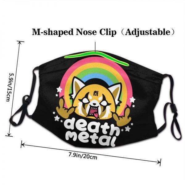 Death Metal Aggretsuko Aggressive Retsuko Mouth Face Mask Japanese Anime Manga Dustproof Mask Protection Cover Respirator 2 - Aggretsuko Merch