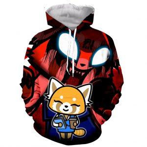 Death Metal Karaoke Kala Aggretsuko Funny New Fashion Long Sleeves 3D Print Zipper Hoodies Sweatshirts Jacket - Aggretsuko Merch