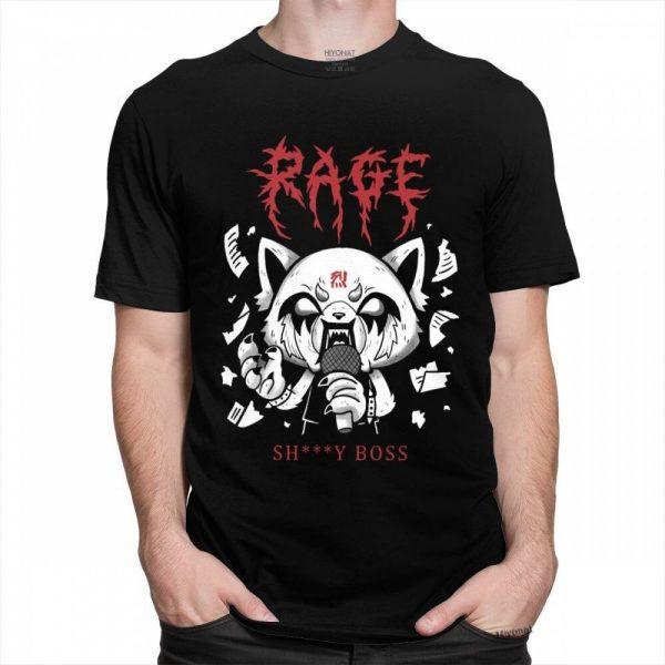 Funny Men T Shirt Aggretsuko Aggressive Retsuko Karaoke Rage Mood Short Sleeve Pure Cotton T shirt 1 - Aggretsuko Merch