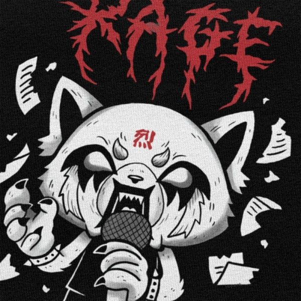 Funny Men T Shirt Aggretsuko Aggressive Retsuko Karaoke Rage Mood Short Sleeve Pure Cotton T shirt 3 - Aggretsuko Merch