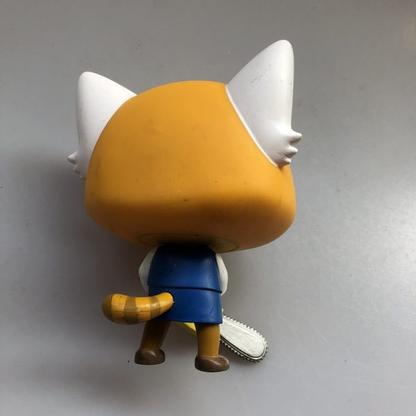 Original Funko pop Secondhand Sanrio Aggretsuko Retsuko with Chainsaw Vinyl Action Figure Collectible Model Loose Toy 2 - Aggretsuko Merch