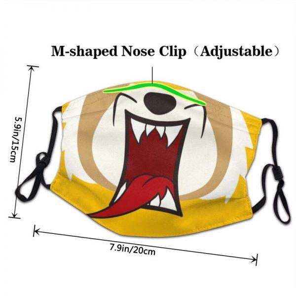 Rage Aggressive Retsuko Mask Dustproof Breathable Death Metal Aggretsuko Face Mask Protection Cover Respirator Mouth Muffle 2 - Aggretsuko Merch