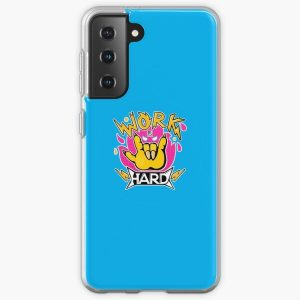 Work hard Samsung Galaxy Soft Case RB2204product Offical Aggretsuko Merch