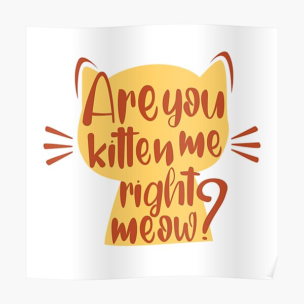 sarcastic phrase are you kitten me right meow Poster RB2204product Offical Aggretsuko Merch