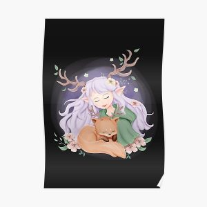 Deer Girl And Little Fox Poster RB2204product Offical Aggretsuko Merch