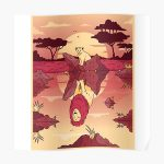 Cub to  lion cartoon Poster RB2204product Offical Aggretsuko Merch