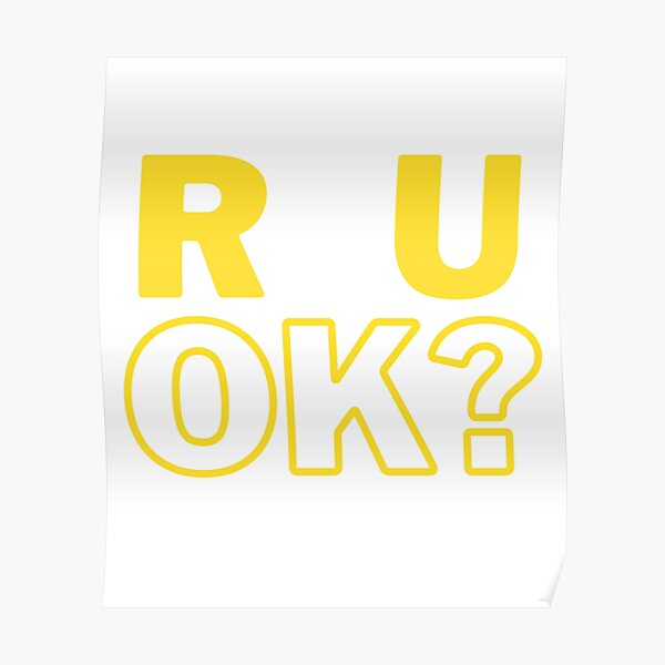 R U OK? Poster RB2204product Offical Aggretsuko Merch