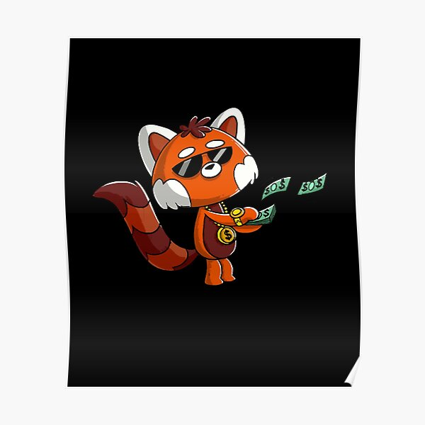 Cute Red Panda Buy yourself something nice Kawaii  Poster RB2204product Offical Aggretsuko Merch