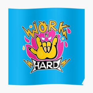 Work hard Poster RB2204product Offical Aggretsuko Merch