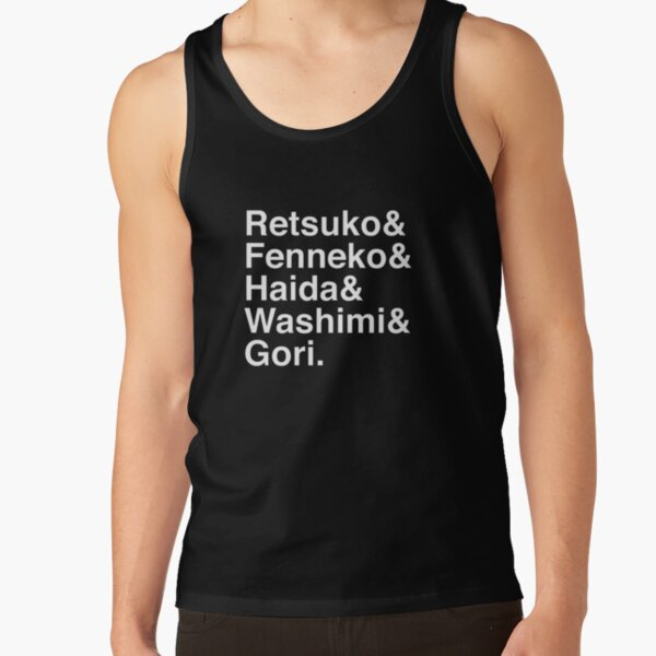 aggretsuko line up Tank Top RB2204product Offical Aggretsuko Merch