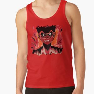 Anime rage zombie caracter emotion Tank Top RB2204product Offical Aggretsuko Merch