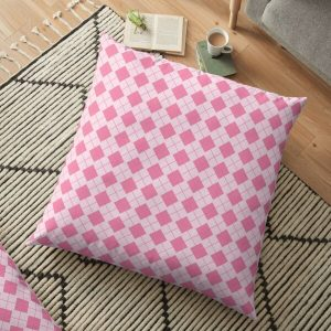 Aggretsuko in love bed pattern Floor Pillow RB2204product Offical Aggretsuko Merch