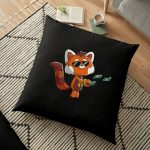 Cute Red Panda Buy yourself something nice Kawaii  Floor Pillow RB2204product Offical Aggretsuko Merch