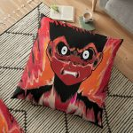Anime rage zombie caracter emotion Floor Pillow RB2204product Offical Aggretsuko Merch