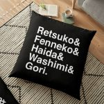 aggretsuko line up Floor Pillow RB2204product Offical Aggretsuko Merch