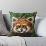 Red Panda Throw Pillow RB2204product Offical Aggretsuko Merch
